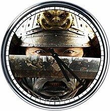 Wanduhr Mit samurai 2