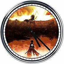 Wanduhr Mit the Attack on Titan 2