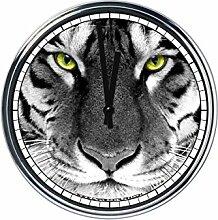Wanduhr Mit Tiger