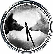 Wanduhr Mit Wolf 3