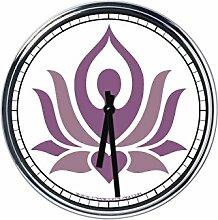 Wanduhr Mit Yoga 6