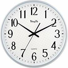 Wanduhr Modern, Likeluk 14 Zoll(35cm) Geräuschlos Quartz Lautlos Wanduhr Schleichende Sekunde ohne Ticken