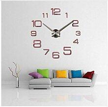 Wanduhr Moderne 3D Große Quarzuhr Uhren