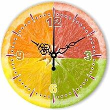 Wanduhr Moderne Home Decoration Küche Wanduhr Uhr Lemon Dekoration Wanduhr mit Wasserdicht Zifferblatt , A , 12 inch