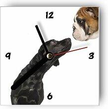 Wanduhr motivx mit Motiv -Hundefreundschaf