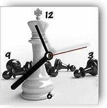 Wanduhr motivx mit Motiv -Schachfiguren