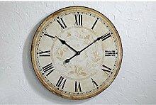 Wanduhr natur D59cm Uhr Küche Landhaus