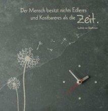 Wanduhr * nette Geschenkidee * mit Bildmotiv und Text, mit Uhrwerk - Lieferung mit Expertise * Grösse:30 x 30 cm