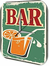 Wanduhr Nostalgie Alkohol Retro Deko Bar Dekouhr