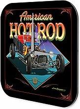 Wanduhr Nostalgie Auto Retro hot Rod Wand Deko Acryl Uhr