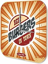 Wanduhr Nostalgie Fun Deko Bester Burger der Stadt Acryl Wand Uhr