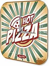 Wanduhr Nostalgie Fun Deko Pizza Acryl Wand Uhr