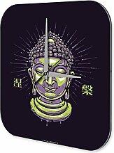 Wanduhr Nostalgie Wand Deko Uhr Buddha Vintage Retro