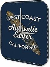 Wanduhr Nostalgie Westküste Surfer Acryl Deko Vintage Retro