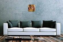 Wanduhr Pflanzen Deko Anemone Acryl Wand Uhr Vintage