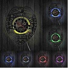 Wanduhr Polizeiabzeichen Wanduhr Schallplatte