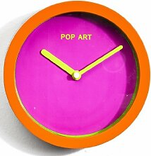 Wanduhr Pop Art pink orange