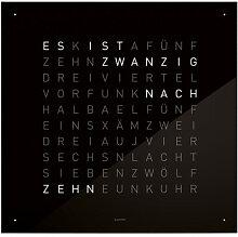 Wanduhr Qlocktwo QLOCKTWO schwarz, Designer