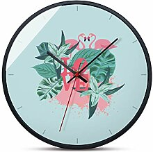 Wanduhr/Quarzuhr, runde Art-Deco-Uhr mit