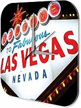 Wanduhr Reisen Küchen Deko Las Vegas Nevada Acryl Wand Uhr