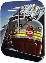 Wanduhr Reisen Lokomotive Canadian Pacific Wanddeko Dekouhr