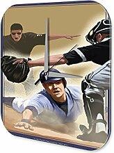 Wanduhr Retro Deko Baseball Base Dekouhr Vintage Nostalgie