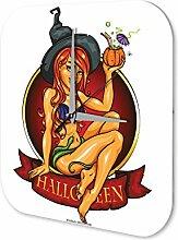 Wanduhr Retro Halloween Acryl Deko Uhr Vintage Nostalgie