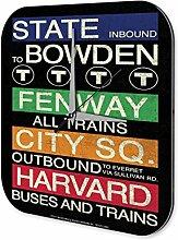 Wanduhr Retro Hinweisschild für Busse und Züge Acryl Deko Uhr Vintage Nostalgie