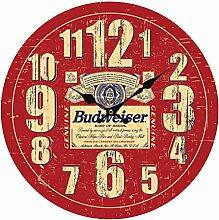 Wanduhr Retro, Likeluk 13 Zoll(34cm) Vintage Lautlos Wanduhr Uhr Wohnzimmer Wall Clock Uhr Ohne Ticken