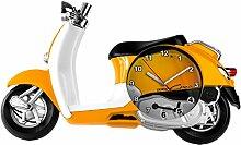 Wanduhr Retro Roller in Gelb