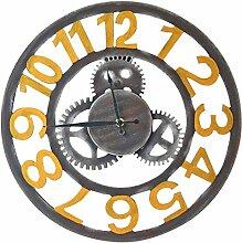Wanduhr Retro Vintage, Likeluk 15,5 Zoll(40cm) Lautlos Wanduhr Uhr Wohnzimmer Wall Clock Uhr Ohne Ticken