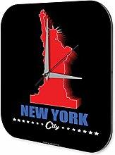 Wanduhr Retro Wand Metropole Deko New York Acryl Dekouhr