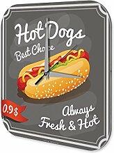 Wanduhr Retro Wand Uhr Hot Dog Dekouhr Acryl Uhr Retro