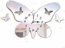Wanduhr Schmetterling Kleine Flügel mit Spiegel