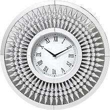 WANDUHR Schwarz, Silberfarben, Weiß 60 cm