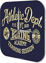 Wanduhr Sport Boxen Deko Wand Uhr Vintage Retro