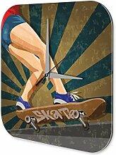 Wanduhr Sport Skateboard Deko Wand Uhr Vintage Retro