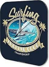 Wanduhr Sport Surfing Club Deko Wand Uhr Vintage Retro