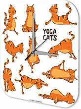 Wanduhr Sport Yoga Deko Wand Uhr Vintage Retro
