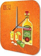 Wanduhr Tequila Bar Kneipe Restaurant Deko Acryl Uhr