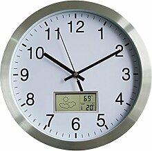 Wanduhr Thermometer Funk, LoKauf 12 Zoll/30CM