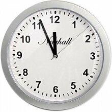 Wanduhr Tresor Versteck Ø 26 cm - Funktionierende Uhr in silber