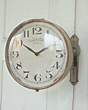 Wanduhr, Uhr 1879, drehbar im Antique Shabby Chic