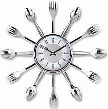 Wanduhr - Uhr - Küchenuhr - Designer Uhr - Wanduhr mit Besteckdekor