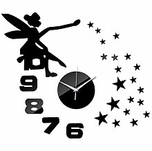 Wanduhr Uhren Aufkleber Dekoration Acryl Diy