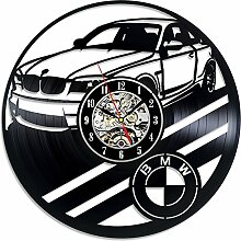 Wanduhr Upgrade, 7 Color LED Change BMW Car Retro