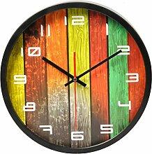 Wanduhr Vintage 30 cm, Likeluk 12 Zoll Lautlos Wanduhr Geräuschlos Holz Uhr Uhren Wall Clock ohne Tickgeräusche