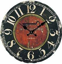 Wanduhr Vintage Lautlos, Likeluk 12 Zoll(30cm) Lautlos Wanduhr Uhr Geräuschlos Uhren Wall Clock ohne Tickgeräusche