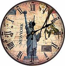 Wanduhr Vintage, Likeluk 12 Zoll(30cm) Lautlos Wanduhr Holz Uhr Uhren Wall Clock ohne Tickgeräusche