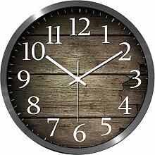 Wanduhr Vintage, Likeluk 12 Zoll(30cm) Lautlos Wanduhr Uhr Wohnzimmer Wall Clock Uhr Ohne Ticken
